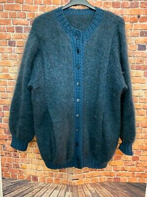 Beautiful Woman's Thick Warm Hand Knitted Cardigan Size 16 • 19.99£
