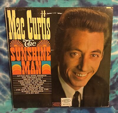 Mac Curtis LP The Sunshine Man WLP White Label Promo MONO Epic RARE • 14.54£