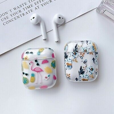 AU9.95 • Buy Clear Hard PC Cover Floral Flower Protective For Apple Airpods 1/2 & Pro Case