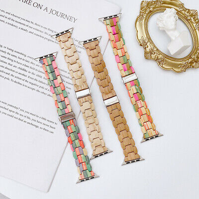 AU23.99 • Buy 44mm 40mm Apple Watch Band Wood Strap For IWatch Series SE 6 5 4 3 2 1 38mm 42mm