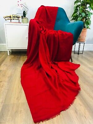 Luxury Authentic Cashmere Blanket Throw Soft Warm Beautiful Genuine Great Price  • 110£