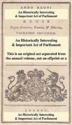 1871. Cap. Cciv. An Act For Vesting The Management Of Wimbledon Common And Putne • 17.99£