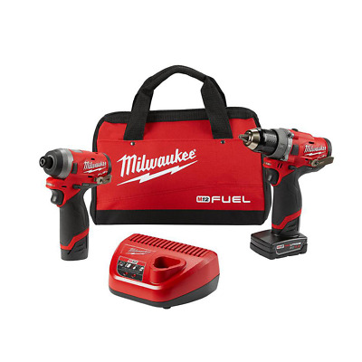 NEW Milwaukee Hammer Drill Impact Driver Tool Set, Cordless Electric Tools Set • 183.10£