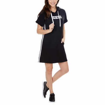 $ CDN31.70 • Buy DKNY Sport Logo Hoodie Dress W/ Pocket- Black, M