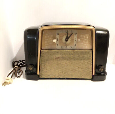 $ CDN183.96 • Buy Sears Roebuck Silvertone No. 8010 Clock Tube Radio Bakelite Works