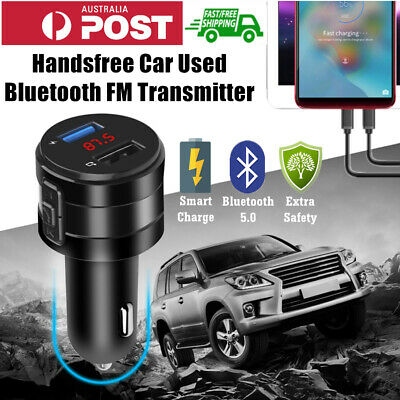 AU16.95 • Buy Handsfree Wireless Bluetooth FM Transmitter Car Charger USB MP3 Player Audio Oz