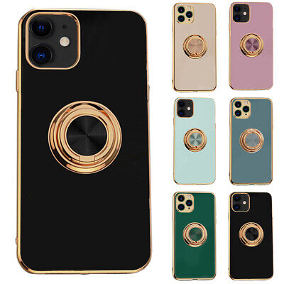 AU16.43 • Buy For Apple IPhone 12 TPU Mobile Phone Case Cover With Finger Ring Stands Holder