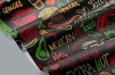 £3.99 • Buy 100% Cotton Mexican Food Fabric 147 CM Wide Metre For Sewing Face Masks UK