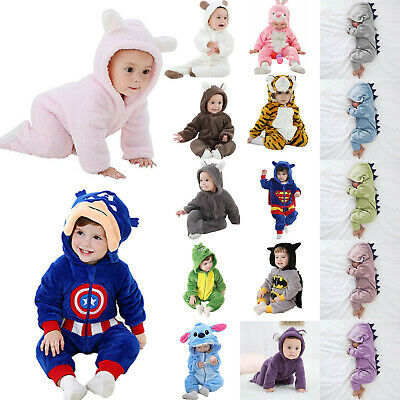 AU22.51 • Buy Newborn Infant Baby Boy Girl Animal Hooded Romper Jumpsuit Costume Outfit Set