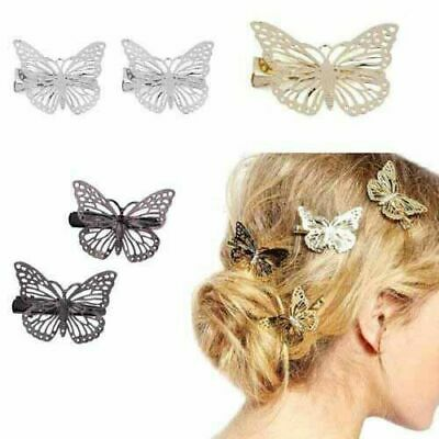 $ CDN2.14 • Buy Gold Silver Butterfly Hair Clips Hairpins Wedding Barrette Accessories Gift