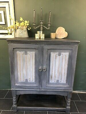 Vintage Shabby Chic Hand Painted T V Cabinet Cupboard Annie Sloan • 145£