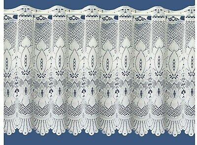 £2.82 • Buy Victorian White Cotton Macrame Look Lace Cafe Net Curtain Sold By The Metre