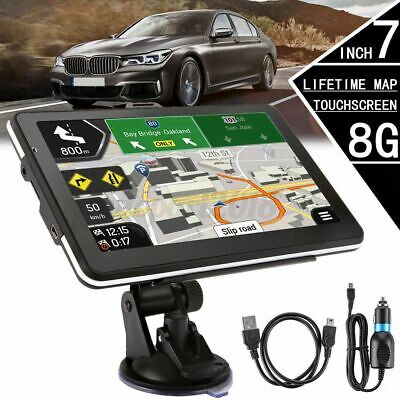 AU100.49 • Buy 7''SAT NAV Portable GPS Navigation FM MP3 For Truck Navigator Free Australia Map