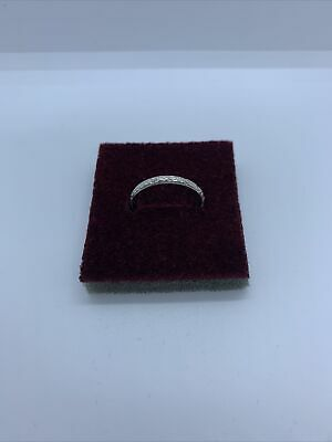 Silver Tone Ring Band Ladies Jewellery Uk Size M • 2£