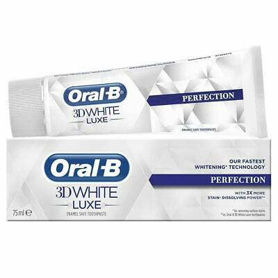 View Details Oral-B 3D White Luxe Perfection Mint Toothpaste Whitening Enamel Protect - 75ml • 5.98£