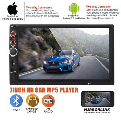 $64.77 • Buy 7 Touch Screen Car Bluetooth Stereo MP5 Player Radio Android IOS USB/AUX/TF Part