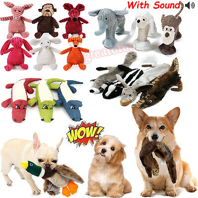AU12.44 • Buy Pet Dog Puppy Chew Play Sound Toys Teething Treat Squeaky Squeaker Funny Plush