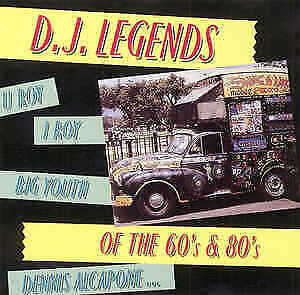 Various ‎– D.J. Legends Of The 60's & 80's: CD: Big Youth: I Roy: Free P&P: ZION • 8£