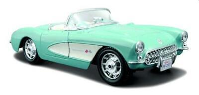 £20 • Buy Chevrolet Corvette 1957 Open Top In Turquoise 1:24 Scale Model From Maisto