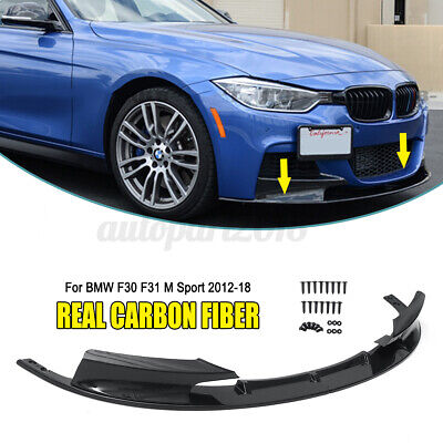 AU475.51 • Buy For BMW F30 F31 M Sport Style 12-18 Real Carbon Fiber Front Bumper Lip
