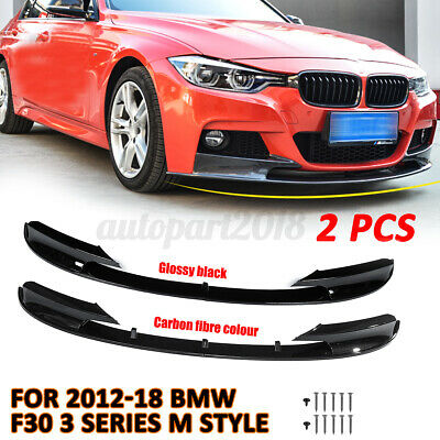 AU222.29 • Buy For BMW 12-18 F30 3 Series Front Bumper Cover Lip Surface M Style Glossy  @ L