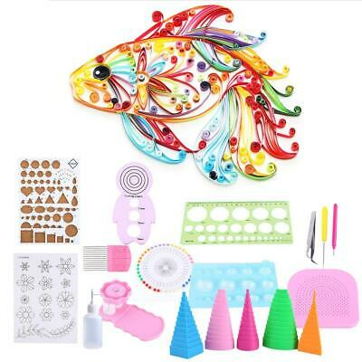 £14.35 • Buy 19pcs Starter Quilling Paper Kits DIY Tool Workboard Slotted Tool Quilling Pen