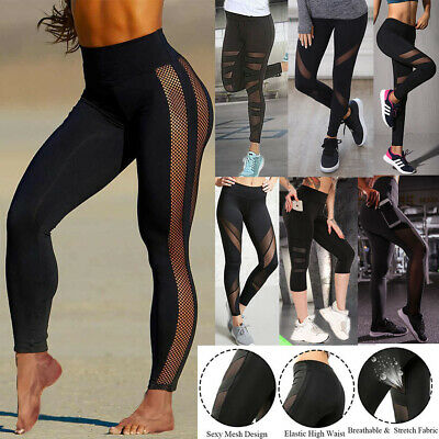 AU16.99 • Buy Women High Waist Yoga Fitness Patchwork Push Up Sport Leggings Running Gym Pants