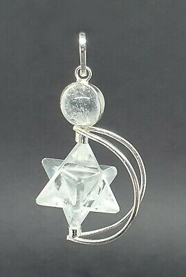 Quartz Crystal Merkaba Pendulum (Removable) Dowser Geometric Healer Energy UK  • 9.49£