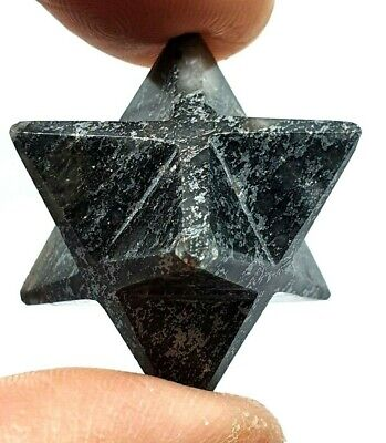 Hematite Merkaba Star Reiki Energy Charged Crystal Emotion Stone Protective • 6.85£