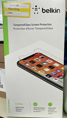 AU17.58 • Buy Belkin Temper Glass IPhone 11 Pro / XS / X Screen Protector