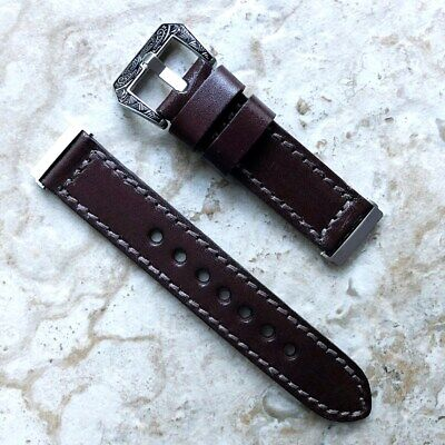 $ CDN49.93 • Buy Dark Brown Handmade Leather Band Strap Compatible With Fitbit Versa 3 And Sense