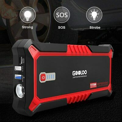 AU149.99 • Buy GOOLOO Upgraded 2000A Peak SuperSafe Car Jump Starter With USB Quick Charge 3.0
