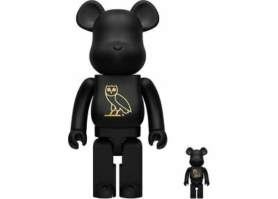 $1199.99 • Buy OVO 400% 100% Bearbrick Be@rbrick Medicom Owl Black Gold Matt Rare Limited Drake