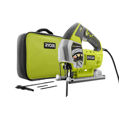 RYOBI 6 Amp Corded Variable Speed Jig Saw Kit W Assorted Blades & Carrying Case • 71.67£