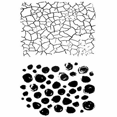 Woodware Craft - Photopolymer Clear Stamps - Crackles & Dots • 4.86£