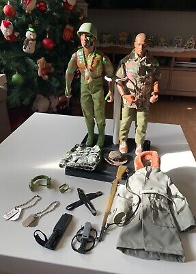 $ CDN63.58 • Buy 12  Inch GI Joe Action Figures Lot Bundle With Clothes, Guns, & Other Accessory