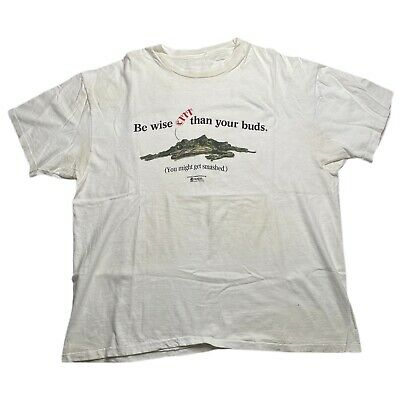 $ CDN26.69 • Buy Vintage Budweiser Frog MADD Get Smashed Beer Graphic T Shirt Size XL
