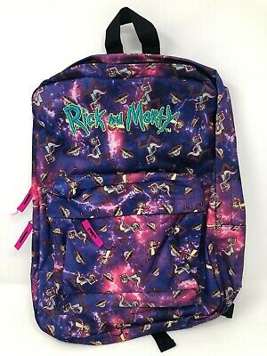 £28.35 • Buy Rick And Morty Backpack Space Galaxy Pocket Book Bag School Travel Adult Swim