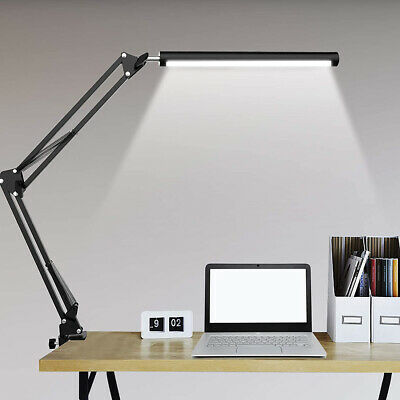 AU32.96 • Buy Table Desk LED Lamp With Clamp 3 Color Modes For Headboard Workbench Study Work