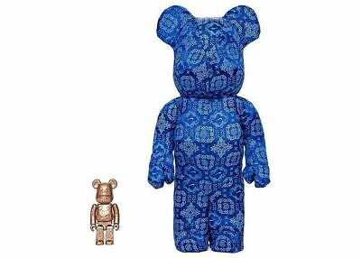 $699.97 • Buy Clot Nike 400% 100% Bearbrick Royale University Blue Silk Be@rbrick Rare 2020