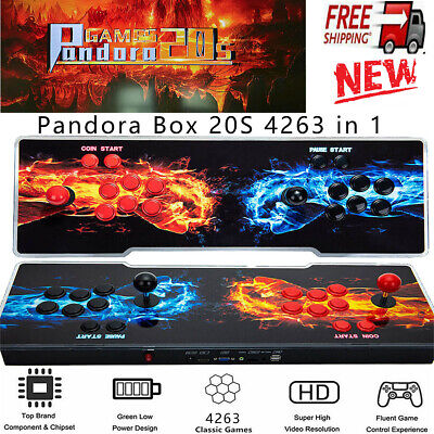 AU229.77 • Buy Pandora's Box 20s 4263 Games In 1 3D Video Game Double Stick Arcade Console New