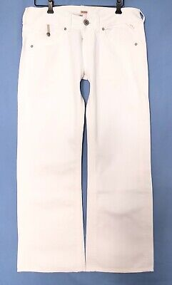 Replay Women WV580.030 JANICE Stretch Slouch Baggy Pant, White Denim, W31 L30 • 86.75£
