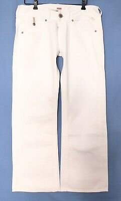 Replay Women WV580.030 JANICE Stretch Slouch Baggy Pant, White Denim, W32 L30 • 86.75£