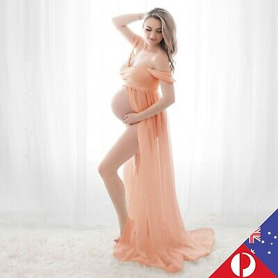 AU39.90 • Buy Maternity Long Maxi Dress For Pregnant Women Photography Party Photo Shoot Props