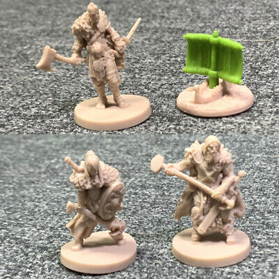 AU9.69 • Buy Lot 4x Warriors Blood Rage Miniature Board Game Dungeons & Dragons DND Toys