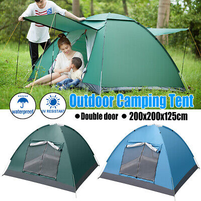 AU40.99 • Buy 3-4 Person Camping Tent Double Layer Waterproof Automatic Quick Open Outdoor AU