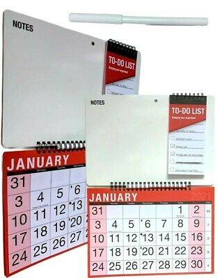2021 Monthly Memo Board Wall Calendar Family Organiser White Board With Pen • 3.29£