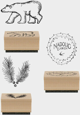 £3.49 • Buy East Of India Ink Pad Christmas Rubber Stamps Merry Xmas Craft Nadolig Llawen
