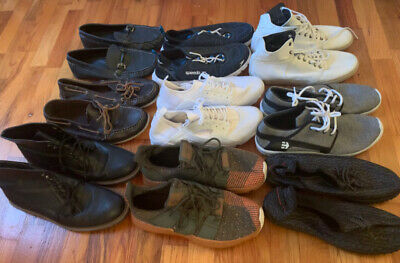 $ CDN158.21 • Buy Lot 9 Pairs Of Men's Shoes All Size Nine M Athletic Tennis Dress Casual Boots US