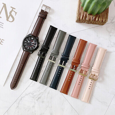 AU1.99 • Buy Samsung Galaxy Watch 46mm R800 Gear S3 Classic Frontier Bands Leather Strap